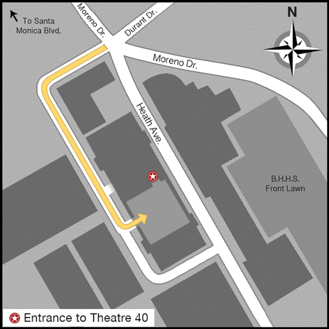 Theatre 40 Parking Map