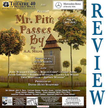 Review of Mr. Pim Passes By at Theatre 40