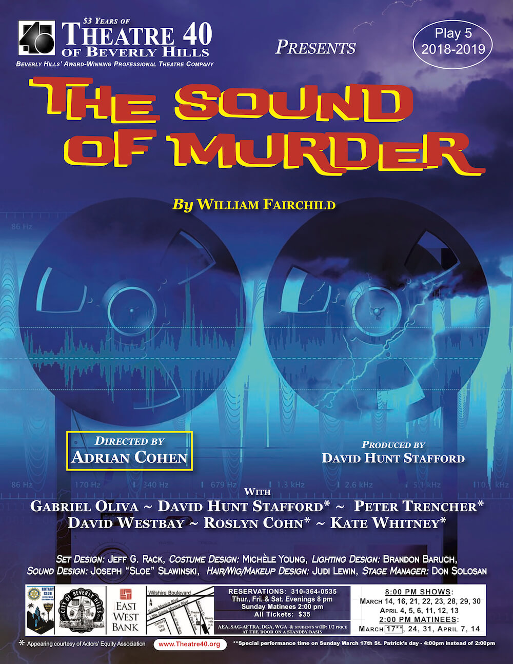 The Sound of Murder at Theatre 40