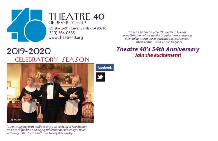 Theatre 40 2019-2020 Season Brochure Page 7