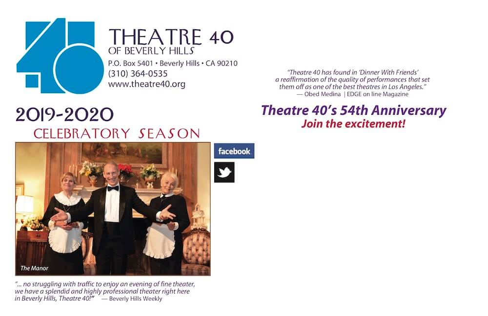 Theatre 40 2019-2020 Season Brochure Page 7
