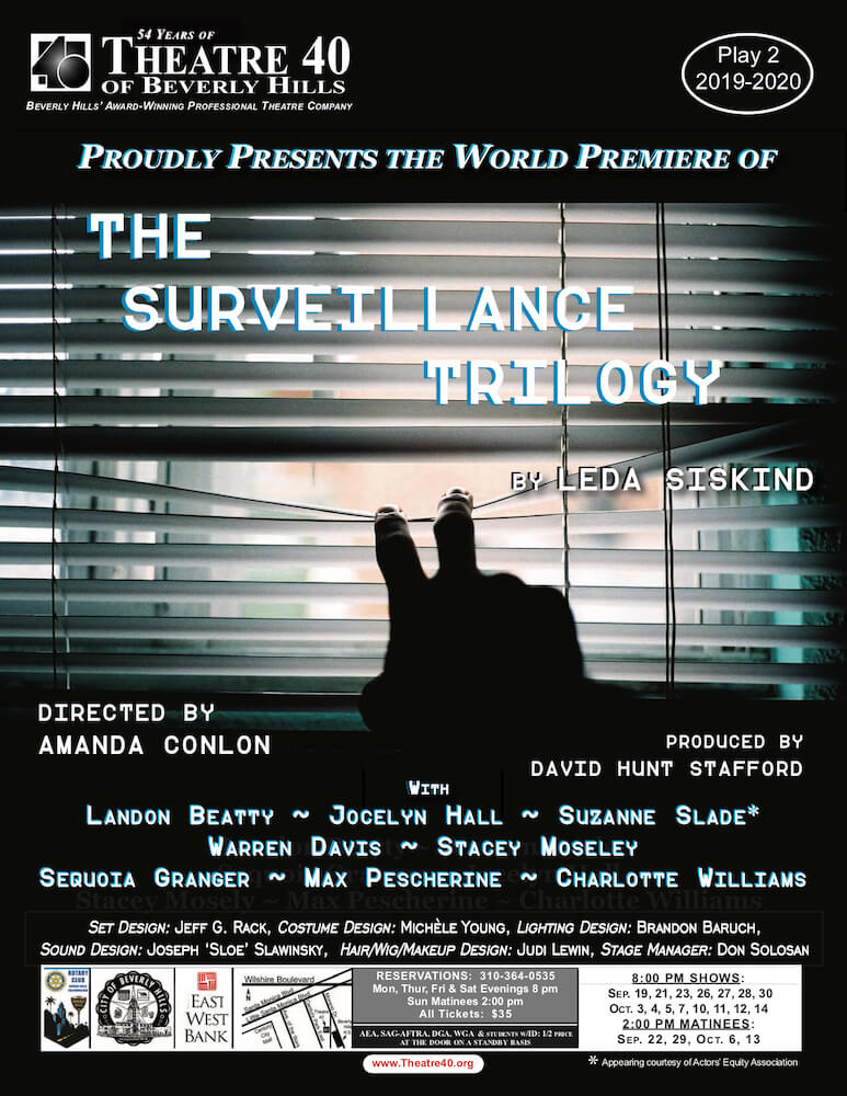 The Surveillance Trilogy at Theatre 40
