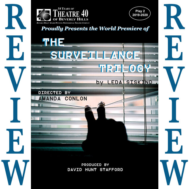 Review of The Surveillance Trilogy at Theatre 40