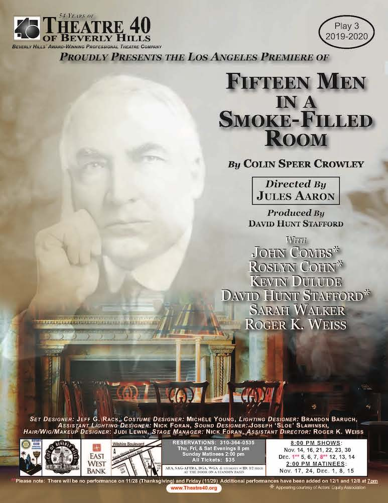 15 Men in a Smoke-Filled Room at Theatre 40