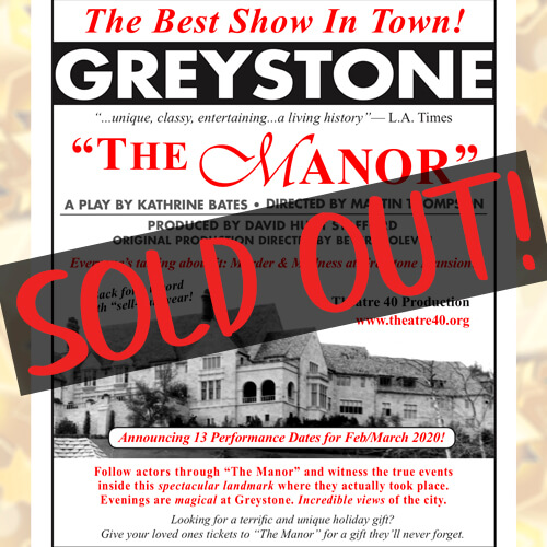SOLD OUT The Manor 2020 at Theatre 40
