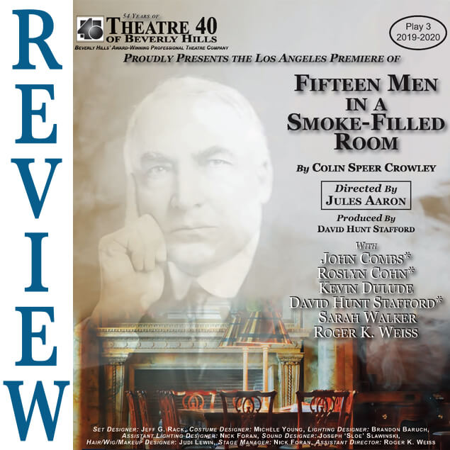 Review of Fifteen Men in a Smoke Filled Room at Theatre 40