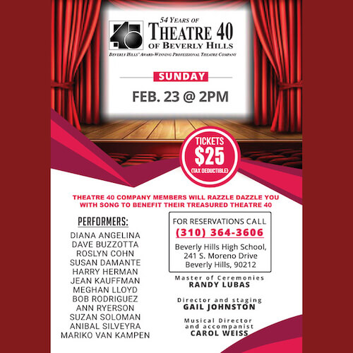Musical Fundraiser at Theatre 40